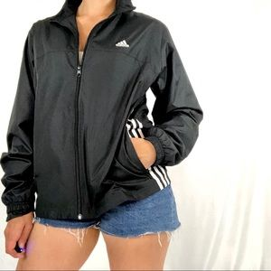 Adidas Women's Black Windbreaker